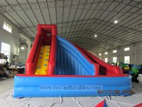 Hot sale customized blue wave water slide