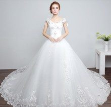 Bridal Ball Gown Lace Pattern Wedding Dress