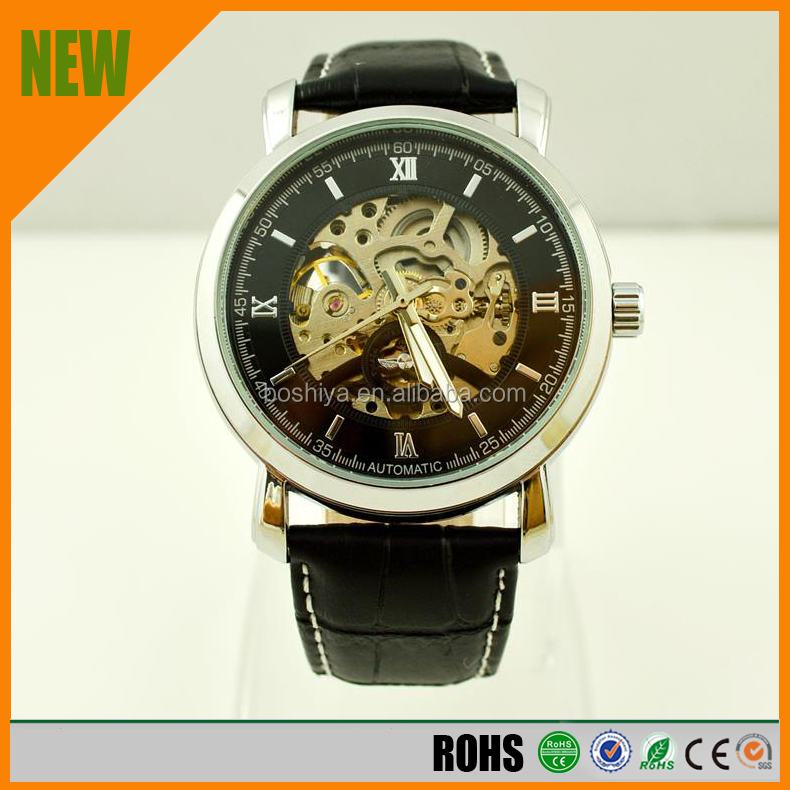 2015 fashion watches, black casual models, automatic mechanical men's watches