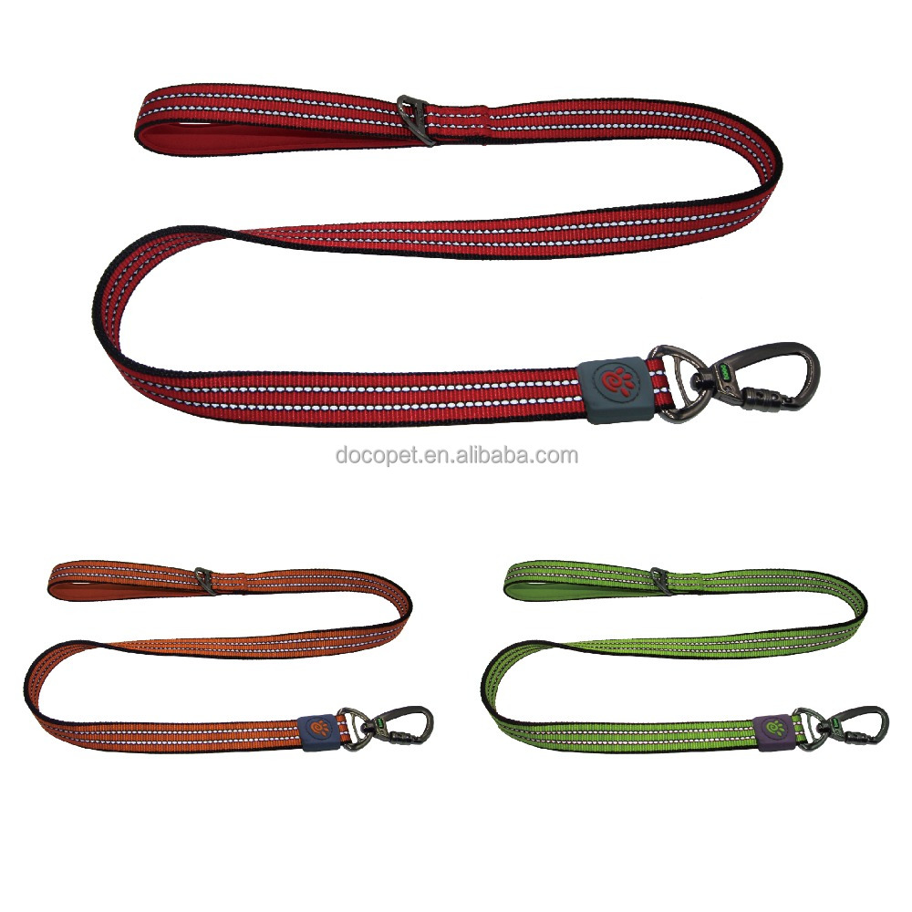 New Hight Quality reflective bungee dog lead with neoprene handle Large Navy Blue