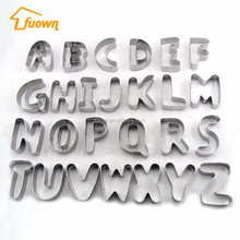 Alphabet Letter Baking tools stainless steel cookie mold cookie cutter