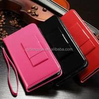 Hot sale manufacture Luxury flip leather waterproof case for iphone 6 plus