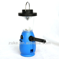 Mini LED dynamo lantern for camping with FM radio ZK-L-8517