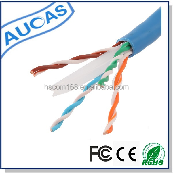 AUCAS 305m 4 pair 23awg ftp computer cable china cat6 lan cable