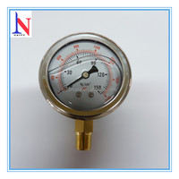 Bourdon tube hydraulic manometer with low mouths