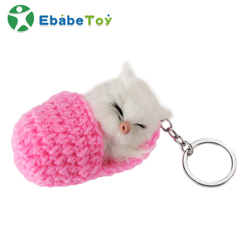 Wholesale custom hot - selling  slippers animal plush key chain hang decorations doll toys
