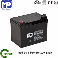 mobility scooter battery 12v 33ah sealed lead acid vrla batteries