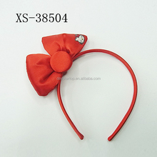 2018 Wholesale Custom Hello Kitty Bow knot Headbands Hair Accessories For Girl