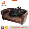 Wholesale cheap comfortable pu leather high quality pet bed for dog and cat