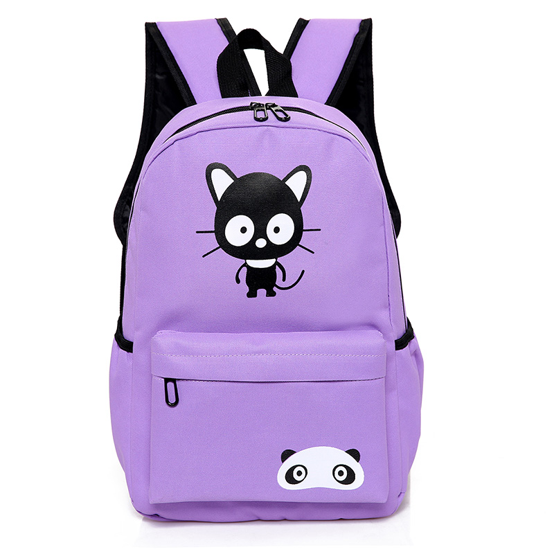 Wholesale leisure canvas backpack 2017 Popular backpack bag casual school back pack