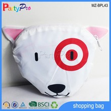 Wholesale Cheap White Sheep Design Canvas Folding Bag Polyester Bag