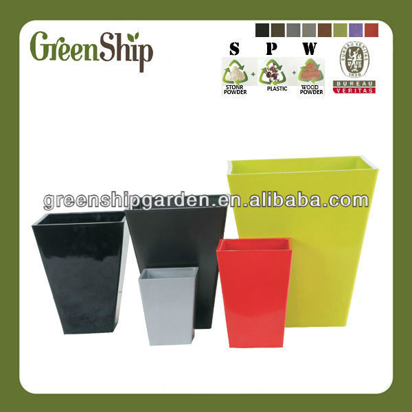 Square Cemetery Flower Pot/lightweight/20 years lifetime/eco-friendly