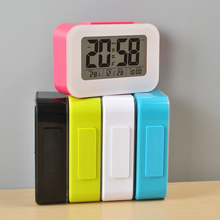 wholesale multi-colors electric digital calendar snooze alarm clock for kids
