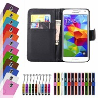 for samsung galaxy s5 Book card slot flip leather wallet case,book leather case for s5
