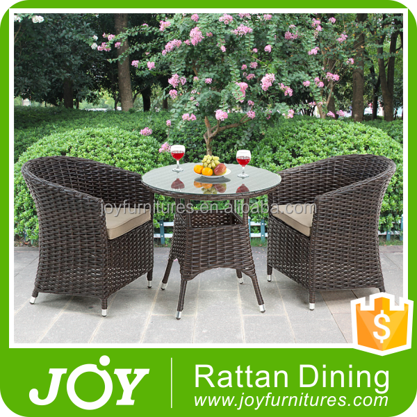 Wholesale 2 Seater Rattan Dining Bistro Table And Chairs Garden Cheap Rattan Bistro Set & 2 seater table and chair set_Yuanwenjun.com