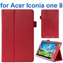 Crazy Horse Texture Flip Stand Protective Case Leather Tablet Cover for Acer Iconia One 8 B1-810