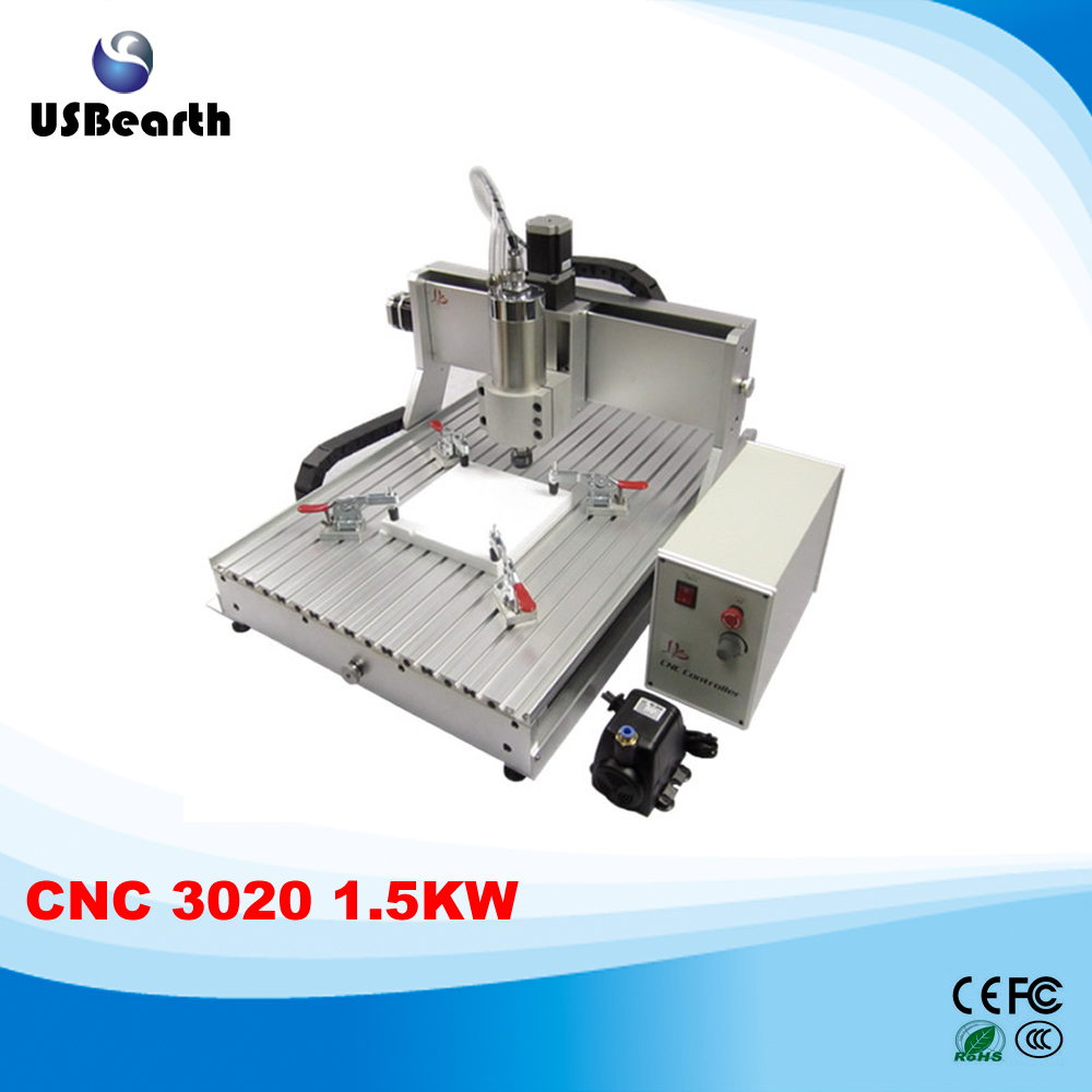 Europe No Tax ! Mach3 low cost mini <strong>cnc</strong> milling machine <strong>CNC</strong> 3020 Z-VFD 3 axis 1.5KW VFD water cooling spindle engraving machine
