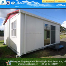 Extended Foldable Prefab Container Homes/40FT folding living container/Expandable Cabin Foldable Container House