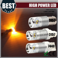 White Yellow No Hyper Flash 7443 Switchback LED Bulbs For Front Turn Signal Lights or DRL