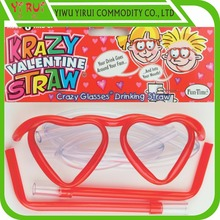 DIY funny shape drinking straw eye glasses straws with multiple pattern