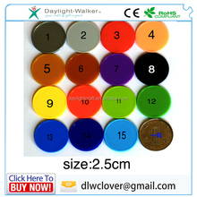 wholesale teaching token colorful 2.5cm plastic coin/ tokens on stock