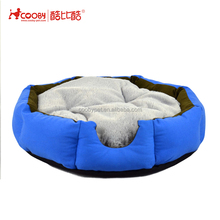 Factory supply deluxe cute cozy canvas warm soft navy blue pet bed