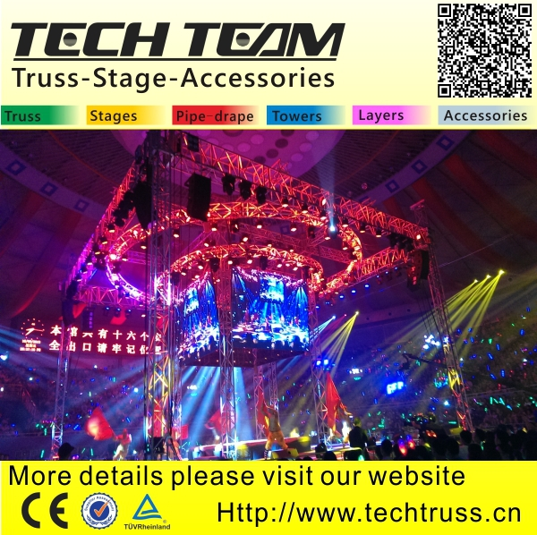 BOO-SA High Quality Aluminum Circle Single Bar for Stage Decoration , Easy to Assemble