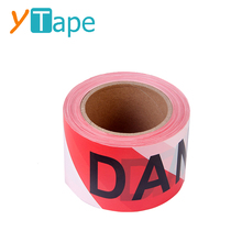Custom Printed Non Adhesive Red and White Barrier Tape with Logo