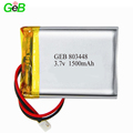 2018 hot sale GEB803448 li-ion battery 3.7v 1500mah lipo battery for headset