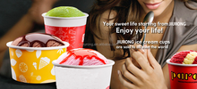 HOT SALE disposible wholesale ice cream paper cup and lid