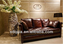 hot design living room Oil wax leather sofa furniture