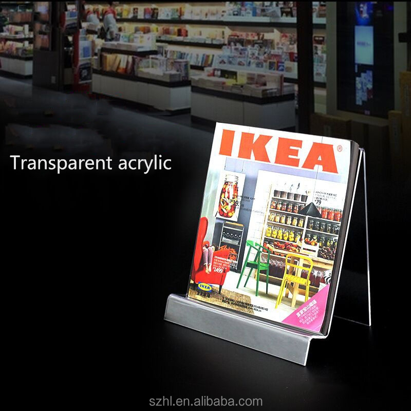 cheap Acrylic Magazine shelf /brochure holder/book display stand
