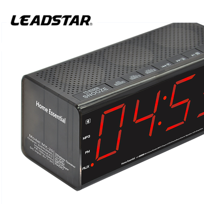 Best Hotel Alarm Clock Radio Speaker For iPhone iPod With CE ROHS Certificates
