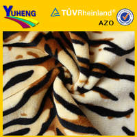 China Long Pile Leopard Faux Fake Fur Fabric Stock