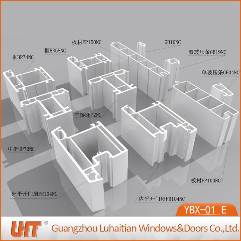 China cheap price upvc profile window pvc extrusion window and door