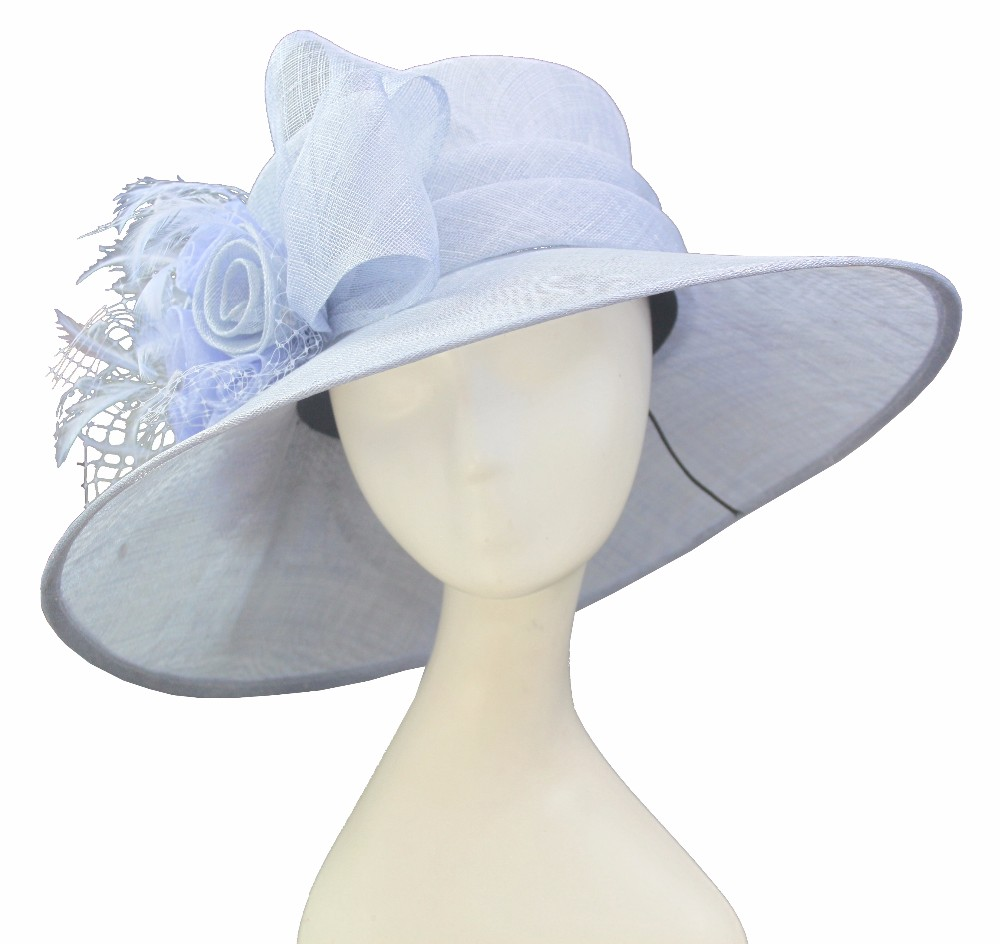 women sinamay fabric church wholesale wedding hats