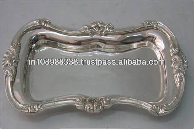 Silver plated tray silver plated serving tray