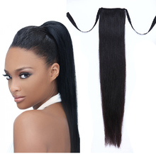 silky straight drawn string ponytail fake colored hair extensions