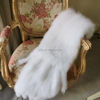 YR476 Top Quality Genuine White Fox Hand knit Wedding Fur Shawl