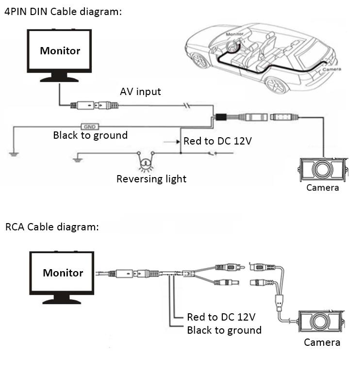 Htj auto car rear view camera night vision rearview backup camera car reversing camera diagram asfbconference2016 Images