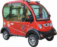 Chinese factory new 4 wheel mini electric car with three seater