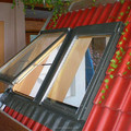Aluminum skylight tempered laminated glass with well service