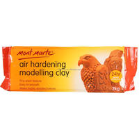 Mont Marte Air Hardening Modelling Clay - Terracotta 2kgs