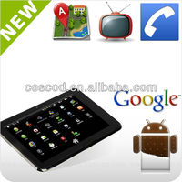 7 inch 3g Tablet MTK 6577 dual core Android 4.0 in tablet pc Bluetooth HDMI GPS