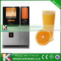 Automated vending,coin operated orange juice fruit vending machine for sale