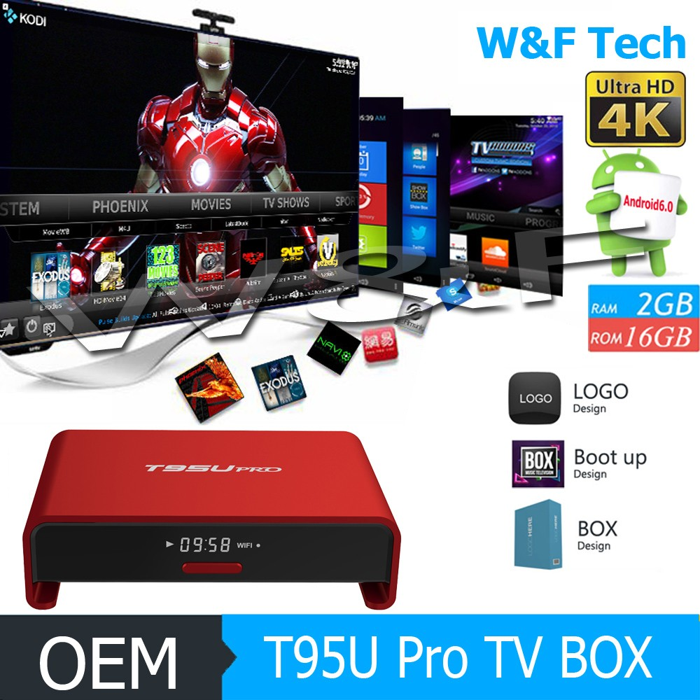 New design amlogic s912 android 6.0 tv box t95u pro with great price