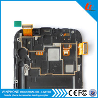 For samsung galaxy note 2 n7100 lcd touch screen digitizer assembly with frame