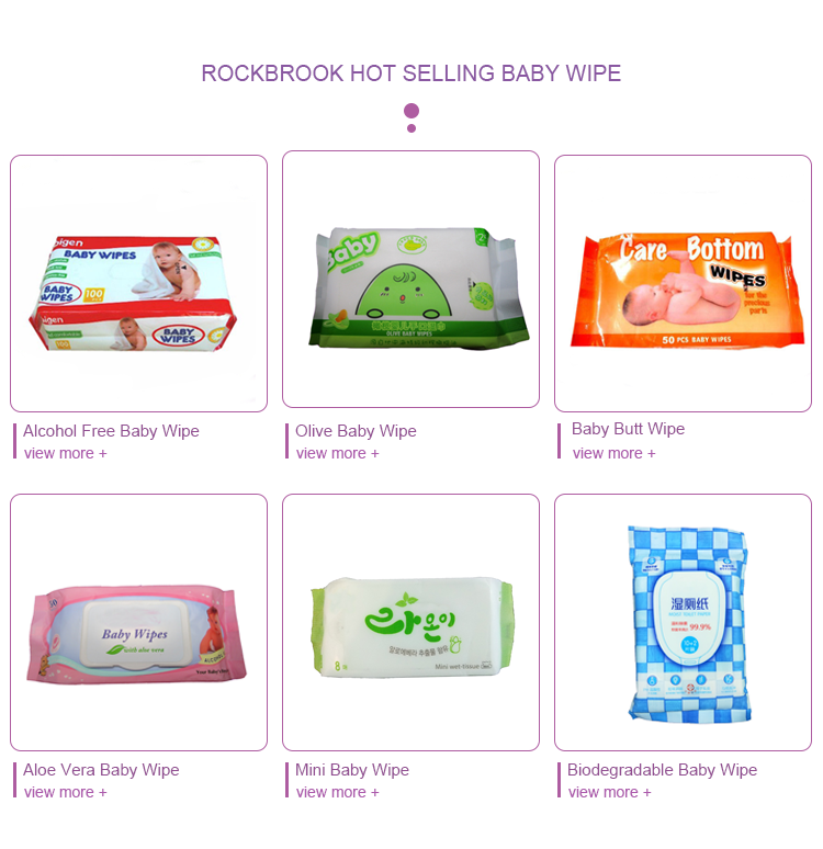 China Wholesales 10/80/100Pcs Chemical Free Bamboo Biodegradable Baby Wet Wipes Tissues with Logo