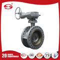 electric actuator double flange butterfly valve for cement manufacturer in China