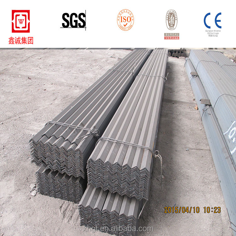 Hr tensile strength of mild steel standard size q235 angle bar